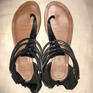Gladiator style t strap sandals-Jessica Simpson